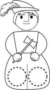 The Woodsman/Huntsman finger puppet to color cut out. Finger Puppet Patterns, Alphabet Sounds, Felt Finger Puppets, Paper Puppets, Marionette Puppet, Finger Plays, Paper Stars, Red Riding Hood, Art Plastique