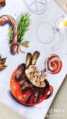 Copic Drawings, Cool Art Drawings, Realistic Drawings, Art Sketches, Fantasy Drawings, Colorful Drawings, Posca Marker, Copic Marker Art, Copic Markers