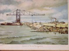 Schoolplaten: Dijkbouw in het IJsselmeer