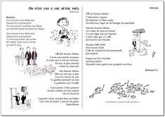 Chant – On n'est pas à une bêtise près – Renan Luce – la maîtresse a des yeux dans le dos