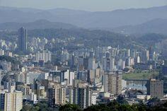 #Blumenau #Brasil #SC #Home Skyline of central area close to the mountains.