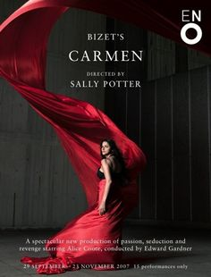 """Carmen!!  My absolute favorite!  I'm going to sing these arias some day.  And not in the shower!!  Christiane Palha ::  """"Carmen"""", directed by Sally Potter, London"""
