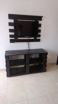 Pallet Media Console And Hanging TV Stand
