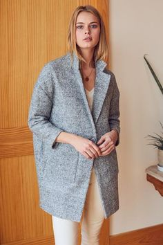 Car Coat - Heather Grey Boucle