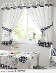 For Kitchen Curtain Ideas That Make The Curtains Less Of A Decorative Object Go With Pockets Storing Small Daily Use Items