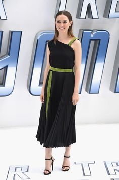 "Lydia Wilson arrives for the UK premiere of ""Star Trek Beyond"" at Empire Leicester Square on July 12, 2016 in London, UK."