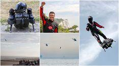 Franky Zapata logra cruzar el Canal de la Mancha con su 'flyboard'