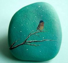 Diy ideas of painted rocks with inspirational picture and words 225