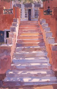 Syros Steps by Lucy Willis - art print from King & McGaw