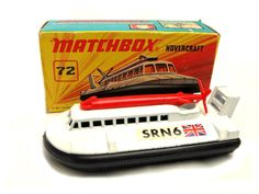 1970s Vintage Matchbox Superfast 72c SRN Hovercraft Toy Collectible Made in England