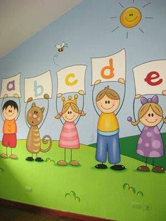 1000 images about murales para ni os on pinterest - Dibujos en paredes infantiles ...