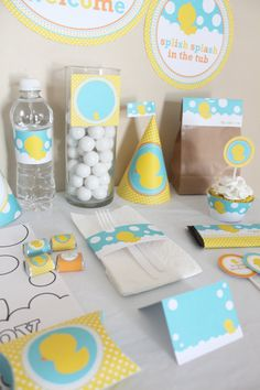 Rubber Ducky (Duckie) Birthday Printable DIY (Do It Yourself) Party Kit. 10.00, via Etsy.