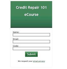 Credit Repair 101 eCourse https://redd.it/4hw5we