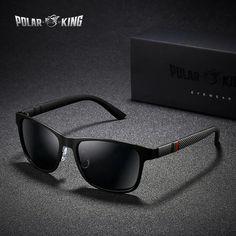 1003a9dd8 POLARKING Brand Metal Designer Polarized Sunglasses For Driving Men Oculos  Square Sun Glasses For Men's Fashion Travel Eyewear