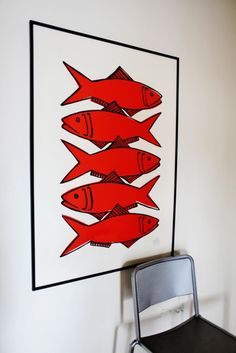 Rood, roder, roodst! #fish #chair