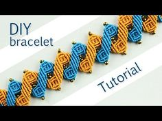 Macramé Leaf Bracelet - Tutorial - YouTube