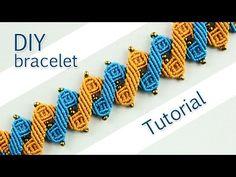 M Double Zig-Zag Bracelet Tutorial /\/\/\/\/\/\/\/\ - YouTube