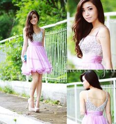 ea8a713374b8 Charming A-line Chiffon Purple Sweetheart Short Prom Dress from Sweetheart  Girl Grad Dresses