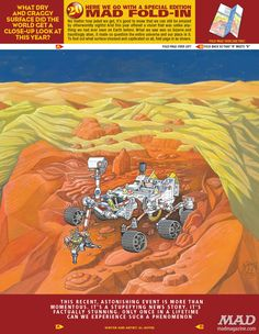 The year-end issue of MAD, out Dec. 18, spotlights Curiosity in its fold-in, a feature that shifts from an obvious image to a hidden one when the page is folded.  CREDIT: MAD Magazine