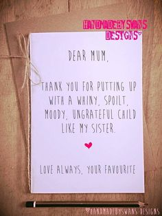 Funny birthday card for mum, Like my sister, birthday gift, Card for mum, Funny … – Birthday 2020 Birthday Gift Cards, Birthday Cards For Friends, Bday Cards, Birthday Gifts For Sister, Mom Birthday Gift, Friend Birthday, Funny Mom Birthday Cards, Happy Birthday Sister Funny, Birthday Ideas