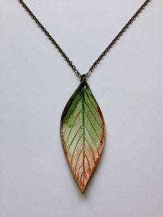 Large ComboGlazed Ceramic Leaf Pendant by AlainaSheenDesigns, $22.00