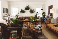 My apartment on Design Sponge today!  Living for the title:  Eclectic Glamour In Laurel Canyon | Design*Sponge