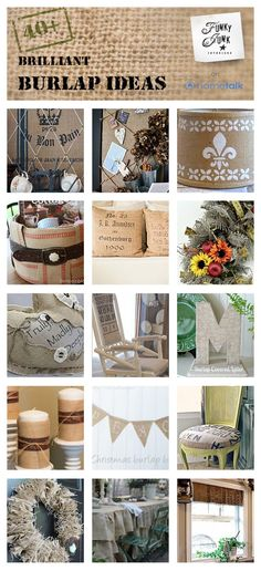 42 brilliant burlap ideas! Click through for full projects.