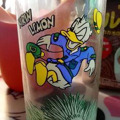 Happy 86th Birthday Donald! #donaldduck #donald #birthday... donaldduck donald birthday disney glass japan Arizona Tea, Drinking Tea, Shot Glass, Japan, Foods, Canning, Birthday, Tableware, Disney