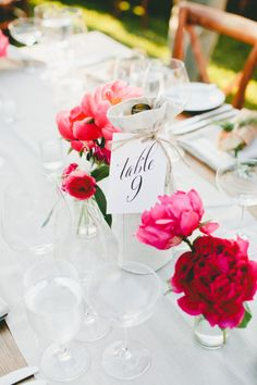 Romantic spring table decor: http://www.stylemepretty.com/little-black-book-blog/2015/08/06/romantic-spring-wedding-at-etude-winery/ | Photography: One Love - http://www.onelove-photo.com/