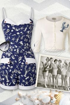 Collectif Clothing Futura Sea Blue Playsuit 132 39 14785 20150617 0007W2