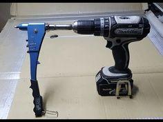 convertire una rivettatrice manuale in elettrica -convert a manual rivet. Metal Working Tools, Metal Tools, Work Tools, Woodworking Projects Diy, Woodworking Jigs, Welding Projects, Diy Welding, Garage Tool Organization, Garage Tools