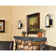 Hanging Onyx Faux Candle Wall Sconce. $100