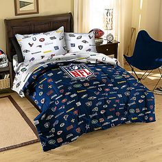 Make Your Bedroom Look Like A True Football Fanu0027s With The NFL All League  Comforter. This Comforter Features Every NFL Teamu0027s Logo In Their True  Teamu0027s ...