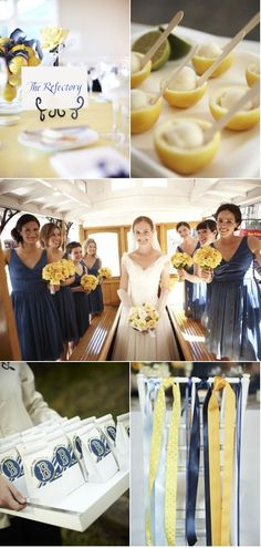 Beautiful blue and yellow wedding at Fort Mason, the perfect SF wedding!
