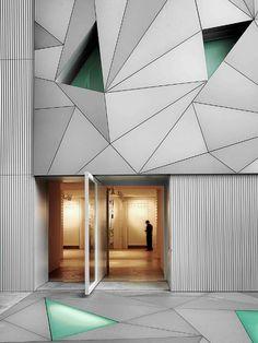 steel facade + door