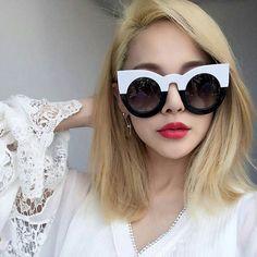 New Cat Eye Sunglasses Mulheres Marca Designer de Moda Vintage Rodada Óculos de Sol de Luxo Óculos Oculos de sol Feminino MA200