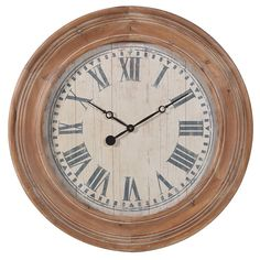 Wooden Wall Clock Beautifully Designed. Our Furniture & Accessories are all made to a high standard with covered warranty for peace of mind. Make your Home Inspirational. La Maison Chic Luxury Furniture Free UK* Delivery Call 0800 1337828 to speak to our sales team.