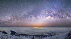Mauna Kea Milky Way Panorama - Hawaii Big Island