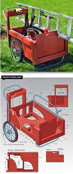 DIY Work Cart - Outdoor Plans and Projects | WoodArchivist.com
