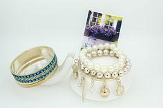 Korea Style  Alloy  Heart Pendant Blue Women Bracelets Multilayer Bangle Bracelet for Girls Charm Jewelry