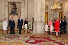 Spanish Royal Family attended the King Juan Carlos of Spain signs the Act of Abdication at the Royal Palace in Madrid