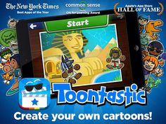 Toontastic: Play, Create, Learn! van Launchpad Toys. Storrytelling, Animation