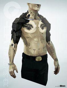 Human augmentation #cyberpunk #character #illustration