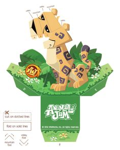 Cheetah Hollow Face Foldable | Create a cool optical illusion with this free download from Animal Jam! #playwild