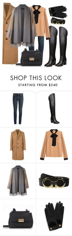"""""""Thigh high boots"""" by ellenfischerbeauty ❤ liked on Polyvore featuring Yves Saint Laurent, Ted Baker, Salvatore Ferragamo, Michael Kors and Mulberry"""