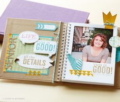 """Hip Pic Album (Z1956) from Close to My Heart. In the new Spring/Summer 2014 Idea Book now! Love it. Is about 5-1/2"""" x 5-1/2"""" and has little window for your photos. www.pinkpapercottage.ctmh.com"""