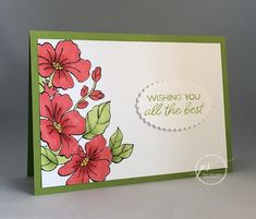 blended season, stamp with tammy, stampin' blends, stampin' up! Blending Markers, Thanks Card, Stampin Up Catalog, Mothers Day Cards, Card Sketches, Sympathy Cards, Flower Cards, Homemade Cards, Stampin Up Cards