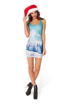 Minty Fresh Polar Bear Dress