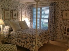Enchanted Home, Love Wallpaper, Floral Prints, Blue And White, Furniture, Bedrooms, Decorating, Home Decor, Interiors
