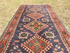 vintage boho blueturkish area rug